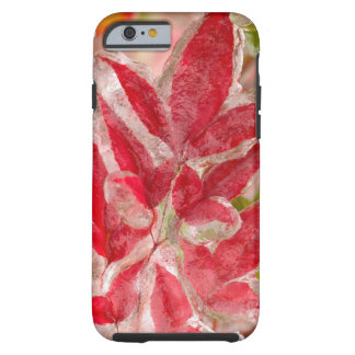 A winters ice storm covering the leaves of tough iPhone 6 case