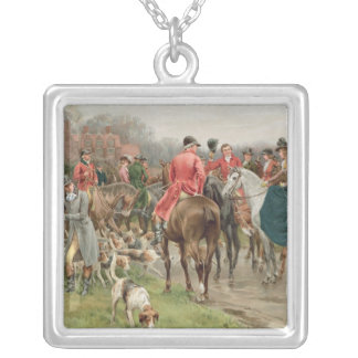 A Winter's Morning, from the Pears Annual, 1908 Silver Plated Necklace