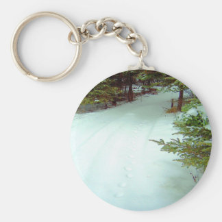 A Winter's Walk Key Chain