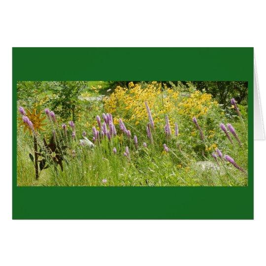 A Wisconsin Prairie Garden Blank Note Card