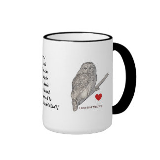 A Wise Old Owl Ringer Coffee Mug