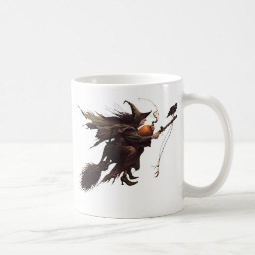A WITCH FOR HALLOWEEN MUGS
