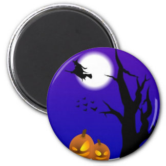 A Witches Moon 6 Cm Round Magnet