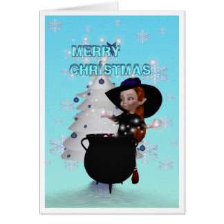 A Witchy Merry Christmas Card