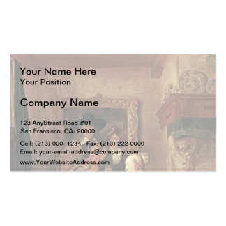 A Woman & a Man Tuning Violin by Gabriel Metsu Pack Of Standard Business Cards
