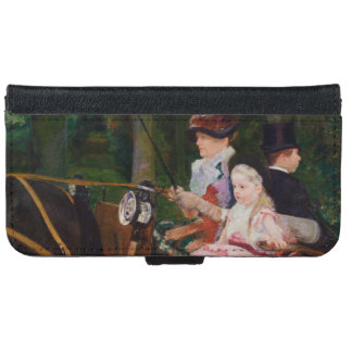 A Woman and a Girl Driving by Mary Cassatt iPhone 6 Wallet Case