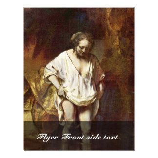 A Woman Bathing By Rembrandt Van Rijn Personalized Flyer