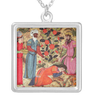 A Woman Beseeching the Sultan Silver Plated Necklace