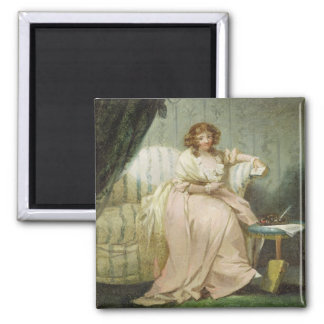 A Woman Called Anne, the Artist's Wife, c.1790-180 Square Magnet