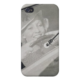 A woman driving, c.1930s (photogravure) iPhone 4 cases
