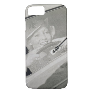 A woman driving, c.1930s (photogravure) iPhone 8/7 case