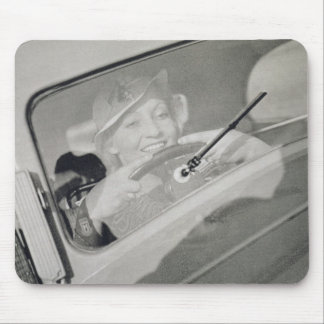 A woman driving, c.1930s (photogravure) mouse mat