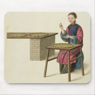 A Woman Preparing Tea, plate 21 from 'The Costume Mouse Mat