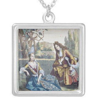 A Woman Seated on the Grass Silver Plated Necklace