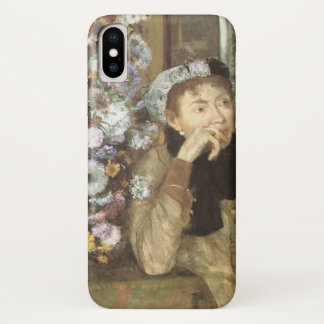 A Woman With Chrysanthemums by Edgar Degas iPhone X Case