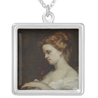 A Woman with Jewellery, 1867 Silver Plated Necklace