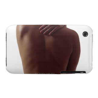 A woman's bare back with one hand reaching iPhone 3 Case-Mate cases