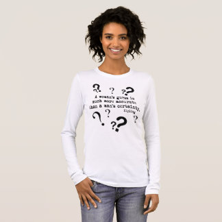 A Woman's Guess Long Sleeve Tee Shirt