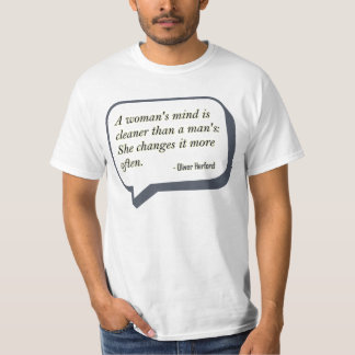 A Woman's Mind Funny Quote T-shirt