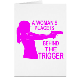 A WOMAN'S PLACE GREETING CARD