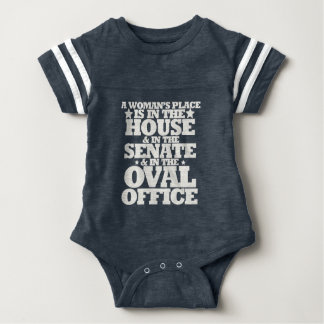 A womans place in politics baby bodysuit