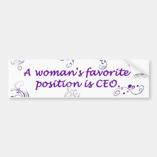 A Women's Favorite Position Bumper Sticker