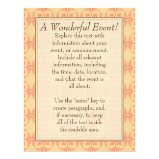 A Wonderful Event! Yellow with Red 21.5 Cm X 28 Cm Flyer