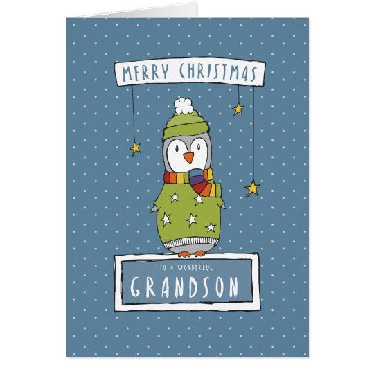 A wonderful Grandson Christmas Card