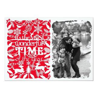 A Wonderful Time of the Year 13 Cm X 18 Cm Invitation Card