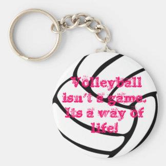 A wonderful volleyball key chain. basic round button key ring