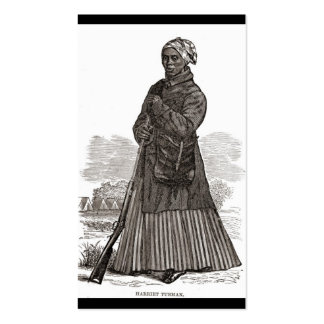 A woodcut image of Harriet Tubman, before 1869 Business Cards