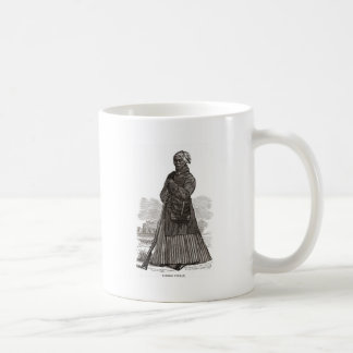 A woodcut image of Harriet Tubman, before 1869 Coffee Mug