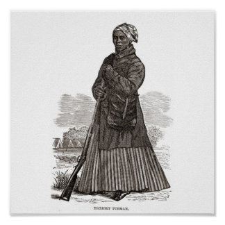 A woodcut image of Harriet Tubman, before 1869 Poster