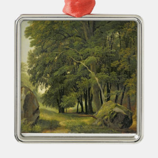 A Wooded Landscape (oil on paper on panel) Christmas Ornament