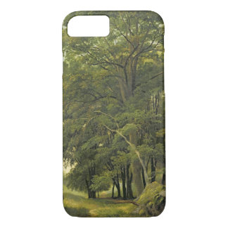 A Wooded Landscape (oil on paper on panel) iPhone 8/7 Case