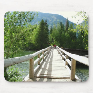 A wooden bridge in Grand Teton National Park Mouse Pad