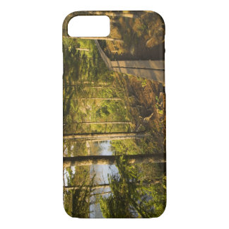 A wooden walkway in Acadia National Park Maine iPhone 8/7 Case