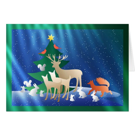 A Woodland Animal Christmas Card