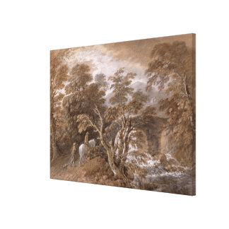 A Woodland Pool with Rocks and Plants, c.1765-70 ( Canvas Print