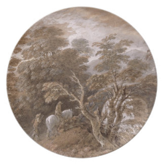 A Woodland Pool with Rocks and Plants, c.1765-70 ( Dinner Plate