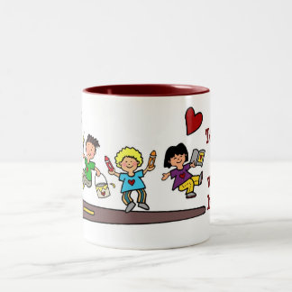 A Work of HeART Two-Tone Coffee Mug