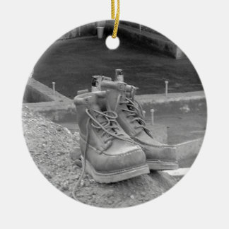A Working Man's Boots Christmas Ornament