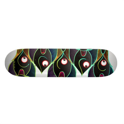 A World Full of Smiling Fishes Skate Deck