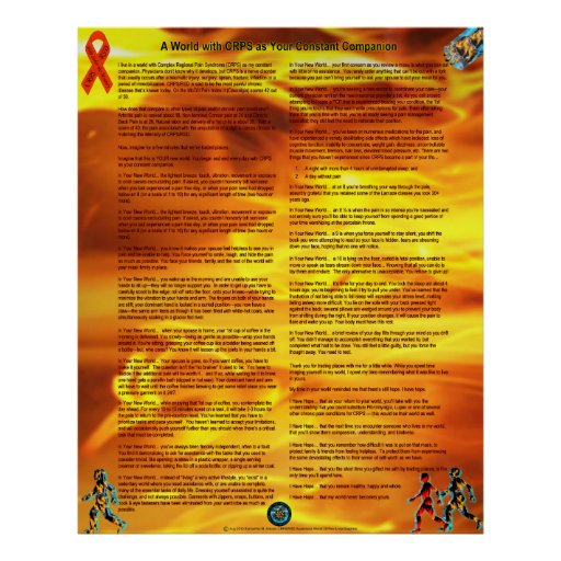A World With CRPS As Your Constant Companion Posters