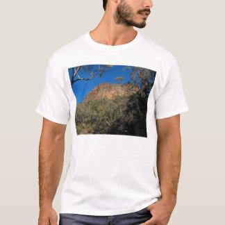 A worn volcanic peak framed by the Australian bush T-Shirt