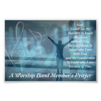 A Worship Band Member's Prayer Poster