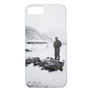 A wounded chaplain reads_War Image iPhone 7 Case