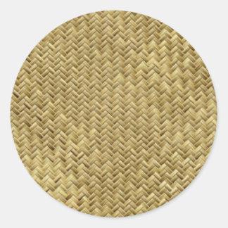 A Woven Row Round Sticker