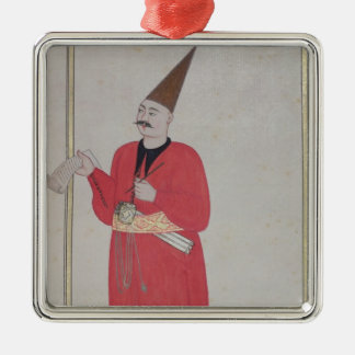 A Writer  from 'Costumes Silver-Colored Square Decoration
