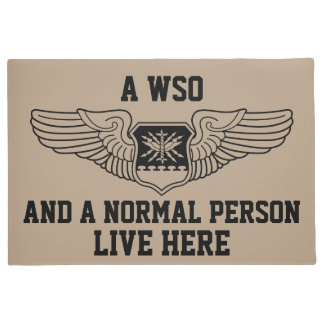 A WSO and Normal Person Live Here Wings Graphic Doormat